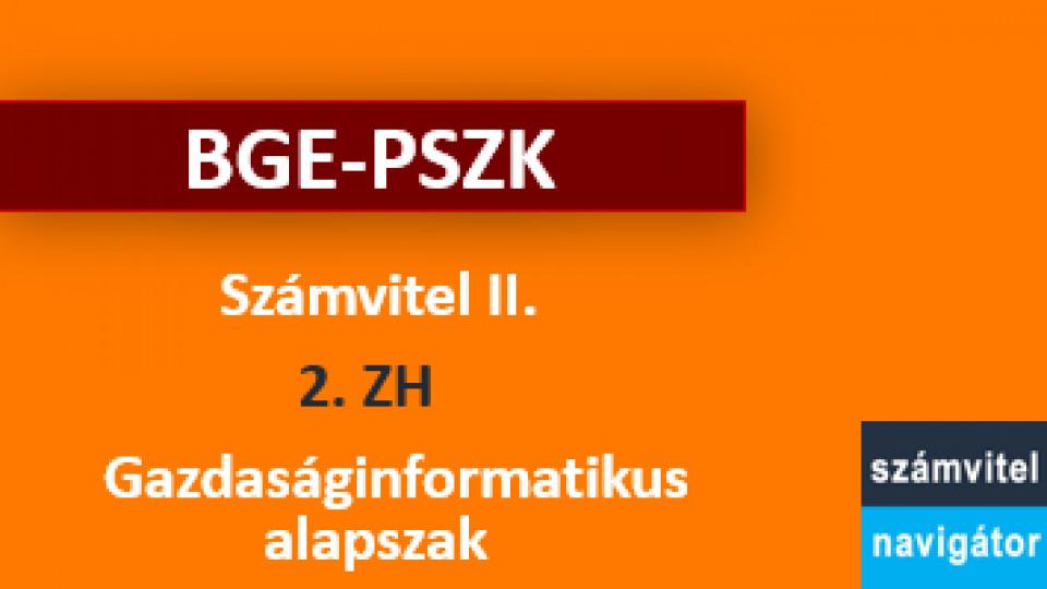 Számvitel 2 ZH 2 felkészítő