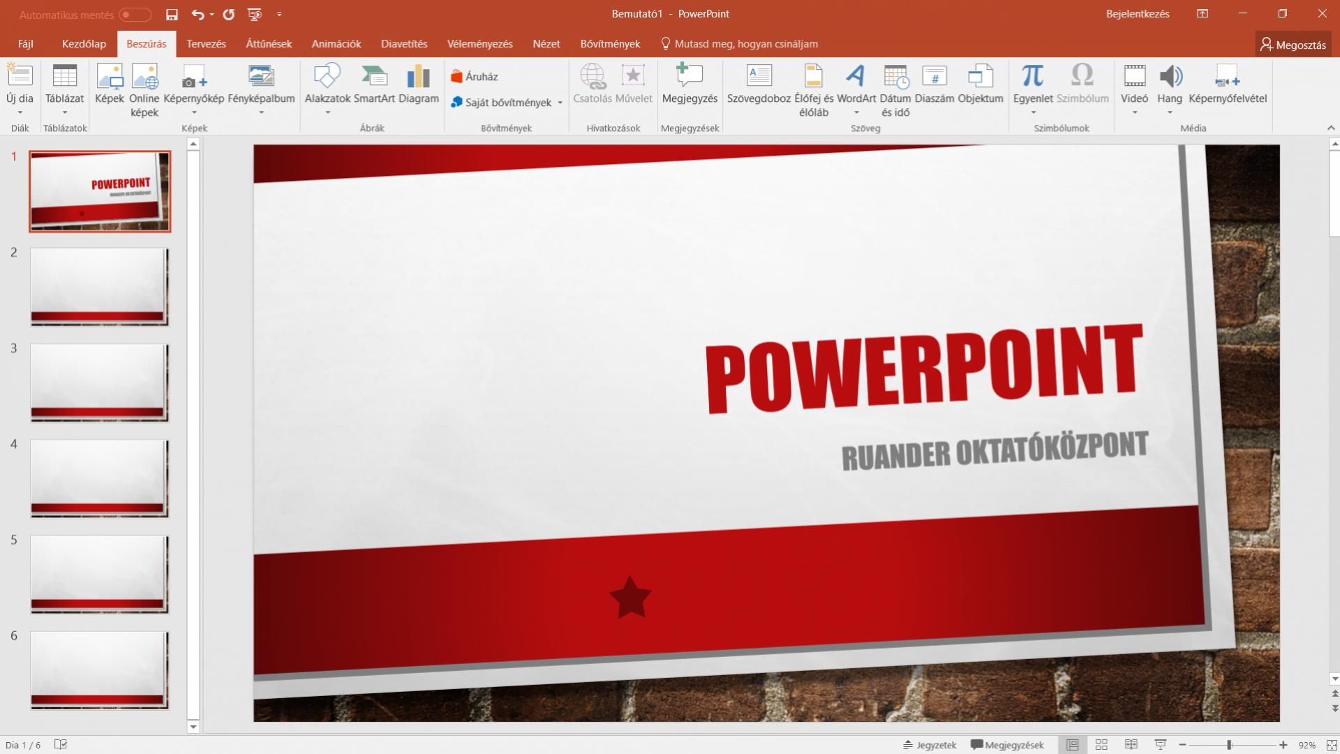 PowerPoint 2016 alapok